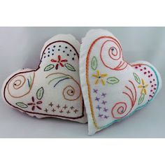 Free pattern embroidery hearts