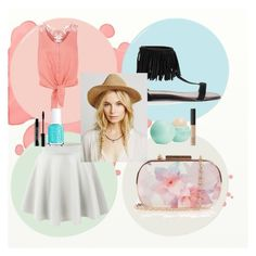 """""""pastel paint"""" by kit-kat-1987 ❤ liked on Polyvore featuring Monsoon, LE3NO, Oasis, Eos, NARS Cosmetics, Lord & Berry, Essie, women's clothing, women's fashion and women"""