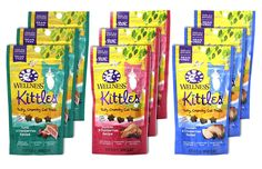 Wellness Kittles Cat Treat Variety Pack - 3 Flavors (Chicken and Cranberries, Salmon and Cranberries, and Tuna and Cranberries Flavors) - 2 oz Each (9 Total Pouches) ** Check out this great product. (This is an affiliate link and I receive a commission for the sales)
