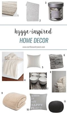 hygge / home decor / blankets / pillows / cozy / neutral / contentment / coziness