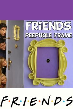 How awesome! FRIENDS tv show friends | peephole frame friends | door frame | marco friends frame | marco rahmen cadre door decor wall decor best friend gift | mom | For the Home | Unique home decor | Home Decor | friends Fans | Monica | Rachel | Phoebe | Ross | Joey | Chandler | etsy | affiliate