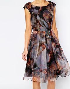87fa72b131242 Enlarge Ted Baker Skater Dress in Blooms of Enchantment Print