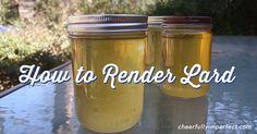How to render lard in a crock-pot