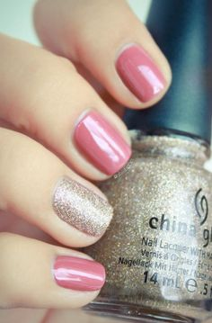 Dusty Rose with China Glaze - Champagne Kisses?