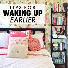 Great Advice For The College Years And Beyond. College is one of the most exciting times in one's life. This article can help you achieve your go You Wake Up, How To Wake Up Early, College Hacks, School Hacks, School Ideas, College Years, College Life, Tips & Tricks, Student Life