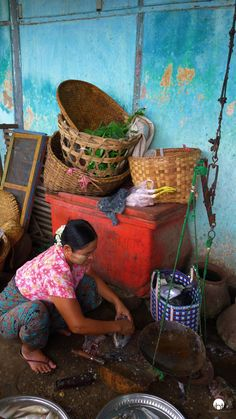 Local market in Myanmar. Burma | Inspired by Traveling | Travel