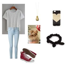 """""""Untitled #166"""" by marissa-moore-i on Polyvore featuring Frame Denim, Converse, NLY Accessories, Catherine Zoraida and J.Crew"""