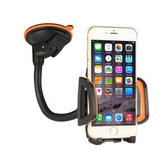 "Car Mount Car Holder Universal Flexible 360 Rotating Windshield Cell Phone Holder Cradle Car Accessories for almost Smartphone - iPhone 7 7Plus Galaxy S7Edge LG HTC up to 7 inches Device (Orange). UNIVERSAL PHONE MOUNT fits any smart phones and device of 3.5"" - 7 "", holds iPhone 6, iPhone 6 Plus, iPhone 7 Plus, iPod Touch, Samsung Galaxy S6, S7, S7 edge, NOTE7, LG G4, GPS, Blackberry z10 and More; The width of clip is adjustable (1.7 inch - 3.7 inch). MULTIPLE PROTECTIONS - The inside of…"