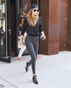 The Gigi Hadid Way to Wear Skinny Jeans in 2016 via @WhoWhatWear