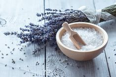 Soothing Bath Salts For Cold & Flu Season Written by: Lindsay Sibson Cold, cold, go away And never come back another day. From congestion and Clary Sage Essential Oil, Frankincense Essential Oil, Tea Tree Essential Oil, Salt Water Bath, Salt Water Flush, Diy Bath Salts With Essential Oils, Salt Room Therapy, Ways To Reduce Anxiety, Pink Sea Salt