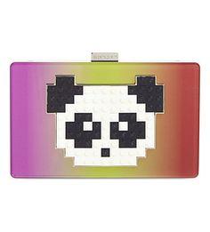 LES PETITS JOUEURS Grace Panda Clutch. #lespetitsjoueurs #bags #shoulder bags #clutch #hand bags #