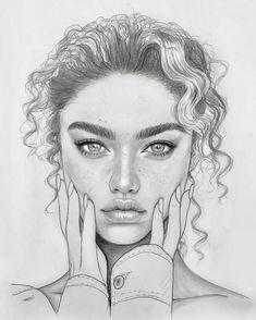 Intense and Beautiful portrait drawing - art corner - drawing - . - Intense and Beautiful portrait drawing – art corner – drawing – - Portrait Au Crayon, L'art Du Portrait, Pencil Portrait Drawing, Portrait Sketches, Pencil Art Drawings, Drawing Portraits, Drawings Of Faces, Pencil Sketching, How To Draw Portraits