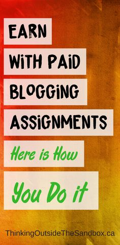 Nine times out of ten, when you set-up your blog you're not immediately going to earn with Paid Blogging Assignments and make a 5-figure income right out off the bat. #Earn #Money #Blogging