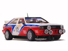 Audi Quattro Rally Sanremo 1982 Cinotto / Radaelli by Team Slot Slot Car Tracks, Slot Cars, Audi Sport, Audi Quattro, Rally, Trucks, Bike, Models, Future