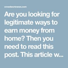 Are you looking for legitimate ways to earn money from home? Then you need to read this post. This article will show you how to make $1,000 a month without having an actual job.
