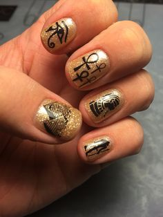 Egyptian nails, check out the instagram page @danielle8857 for more!