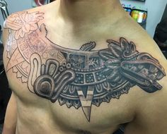 nice 85 Mighty Aztec Tattoo Designs - Striking, Provocative and Distinctive Check more at http://stylemann.com/best-aztec-tattoo-designs/