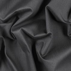 New! Muted Black Stretch Cotton Stretch Cotton Twill Fabric by the Yard | Mood Fabrics