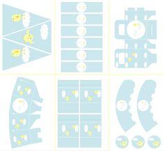 Kit de Pollitos para Imprimir Gratis. - Ideas y material gratis para fiestas y celebraciones Oh My Fiesta!