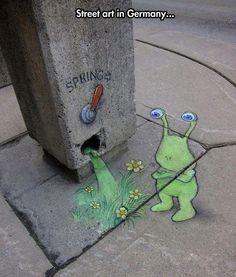 cool-street-art-chalk-spring-monster