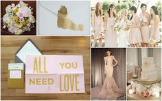 golden, grey, and blush inspiration