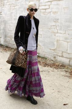 I will always love long, printed skirts.