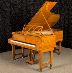Custom Designed Bechstein Art-Case Parlor Grand Piano $60,000 http://antiquepianoshop.com/product/550/custom-designed-bechstein-art-case-parlor-grand-piano/