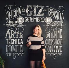 Oficina de Arte com Giz (módulo 01) e Oficina de Lettering com Giz (módulo 02) com Cristina Pagnoncelli. Fiquem ligados para novas datas. ;)