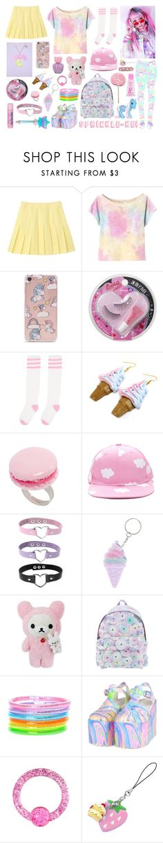 """""""Sprinkle-Kei"""" by melodyfire ❤ liked on Polyvore featuring Aiko, Forever 21, Cotton Candy, And Mary, Jeremy Scott, UNIF, My Little Pony and Aéropostale"""