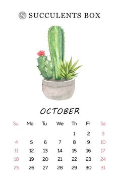 Most recent Pictures 2020 calendar cactus Tips The actual personalized wall calendars are supposed to provide your company ways to promote your com October Calendar, Free Printable Calendar, Calendar 2020, Free Printables, Blog Planner, 2015 Planner, Calendar Wallpaper, Desk Calendars, Day Planners