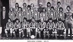 1974/75 Squad Newcastle United Football, St James' Park, Team Photos, Football Team, Bookmarks, Squad, Nostalgia, Army, England
