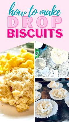 If you don't have time to make homemade southern biscuits, think again! This quick and easy drop biscuit recipe is light and fluffy on the inside, and gold and crispy on the outside. It seems time but it's still absolutely delicious! Simple Recipes, Great Recipes, Favorite Recipes, Learn To Cook, Food To Make, Easy Drop Biscuits, Southern Breakfast, Southern Biscuits, Homemade Waffles