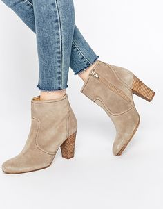 Dune Portia Heeled Suede Ankle Boots