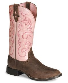 Women&39s Ariat Western Cowboy Boots Round Toe Light Brown 8