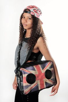 Here's another cool UK bag. This one is with REAL SPEAKERS!