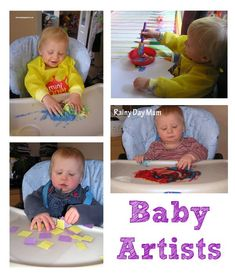 Art Activities for under 18 months plus other ideas to do at home with under 18 month year olds.