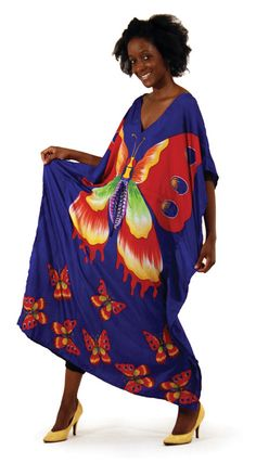 Smooth Productions NY: African Fashions Dresses Traditional Butterfly Kaftan Dress