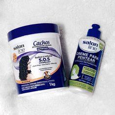 Hoje é dia de nutrição  vou misturar esses dois cremes da @salonlinebrasil para nutrir o meu cabelo e depois mostrarei o resultado lá no snap  lariirezende  como será que vai ficar? #salonline #todecacho #publi #nutrição #cronogramacapilar
