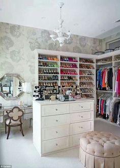 Vanity room/walk in closet.