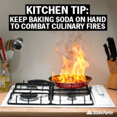 Servpro likes Keep baking soda on hand to combat kitchen fires! --> Kitchen Fire Safety Tip