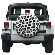 Keep Tire Safe And Your Car Look More Cool With Spare Tire Cover Ideas: Best Pictures - Awesome Indoor & Outdoor Jeep Wrangler Tire Covers, White Jeep Wrangler, Jeep Tire Cover, Jeep Covers, Jeep Spare Tire Covers, Jeep Wrangler Accessories, Jeep Accessories, Best Car Insurance, Custom Jeep