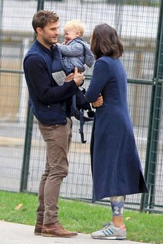 Jamie Dornan with wife Amelia & baby in Vancouver, BC
