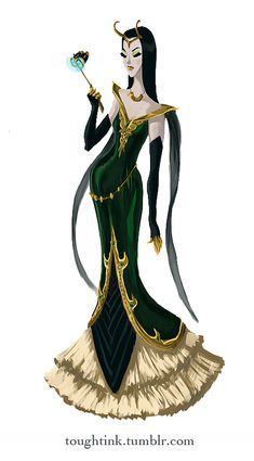 Avengers Gowns: Loki by kelseymichele on DeviantArt (I'd wear the hell out of this) Lady Loki Cosplay, Loki Costume, Marvel Cosplay, Cosplay Costumes, Loki Dress, Marvel Dress, Dc Comics, Fantasy, Fashion Sketches