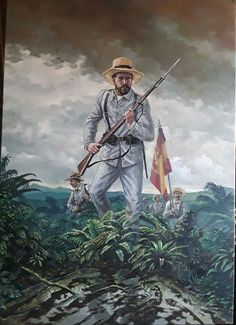 Spanish Soldier in the cuban war 1896 Military Art, Military History, Military Uniforms, The Spanish American War, Plains Indians, Magic Realism, Spanish Colonial, Cuba, World History