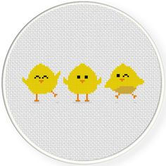 Happy Chicks Cross Stitch Pattern, You can create really specific patterns for fabrics with cross stitch. Cross stitch types will almost amaze you. Cross stitch beginners may make the types they desire without difficulty. Chicken Cross Stitch, Mini Cross Stitch, Simple Cross Stitch, Cross Stitch Animals, Modern Cross Stitch, Cross Stitching, Cross Stitch Embroidery, Embroidery Patterns, Easy Cross Stitch Patterns