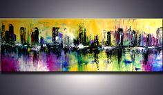 72 XXL ORIGINAL paisaje abstracto moderno espátula arte Canvas Wall Art, Art Painting, Cityscape Art, Abstract Painting, Painting, Modern Art Paintings, Abstract Art, Art, Abstract