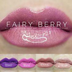 LipSense distributor #228660 @perpetualpucker Lilac Lacquer, Pop Art Pink, & Pink Champagne combo w/ Pink Glitter Gloss