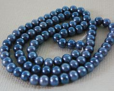 Vintage .. Beads Charcoal Grey Resin Faux Pearl 4mm by dibabeads, $5.00