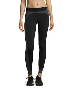 Shop Dynamic Duo Legging, Black from Koral Activewear at Neiman Marcus Last Call, where you'll save as much as on designer fashions. Black Moto Leggings, Striped Leggings, Sports Leggings, Leggings Are Not Pants, Black Coated Jeans, Stella Mccartney Adidas, Pull On Pants, Super Skinny Jeans, Bergdorf Goodman
