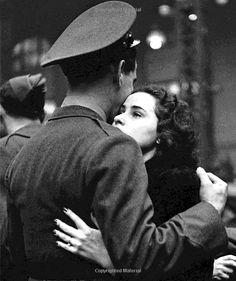 The Long Goodbye~ (by Alfred Eisenstaedt) The photos made by LIFE's Alfred Eisenstaedt in April 1943 at the height of the Second World War, capture true romance — its agonies, its resilience — in ways.